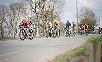 Kévin Ledanois (FRA/Arkéa Samsic) (legally) tucking while descending<br /> <br /> 85th La Flèche Wallonne 2021 (1.UWT)<br /> 1 day race from Charleroi to the Mur de Huy (BEL): 194km<br /> <br /> ©kramon