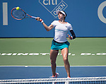 August 2,2017:   Christina McHale (USA) loses to Eugenie Bouchard (CAN) 7-6, 6-0, at the Citi Open being played at Rock Creek Park Tennis Center in Washington, DC, .  ©Leslie Billman/Tennisclix/CSM