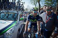 Nairo Quintana (COL/Movistar) post-race<br /> <br /> 79th Flèche Wallonne 2015