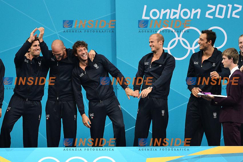 Italia Medaglia Argento Pallanuoto.Water Polo Final Croazia Italia / Croatia Vs Italy.London 12/8/2012 Water Polo Arena.London 2012 Olympic games - Olimpiadi Londra 2012.Foto Andrea Staccioli Insidefoto