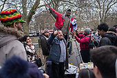 A Muslim heckles a Christian preacherr  at Speakers' Corner, Hyde Park, London; 2017.