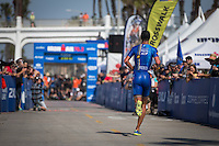 Matt Reed with at top 10 finish in the Accenture Ironman California 70.3 in Oceanside, CA on March 29, 2014.