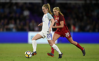 Orlando City, FL - Wednesday March 07, 2018: Keira Walsh during a 2018 SheBelieves Cup match between the women's national teams of the United States (USA) and England (ENG) at Orlando City Stadium.