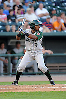 Fort Wayne TinCaps second baseman Reynaldo Bruguera (9) during a game against the Great Lakes Loons on August 19, 2013 at Dow Diamond in Midland, Michigan.  Great Lakes defeated Fort Wayne 12-5.  (Mike Janes/Four Seam Images)