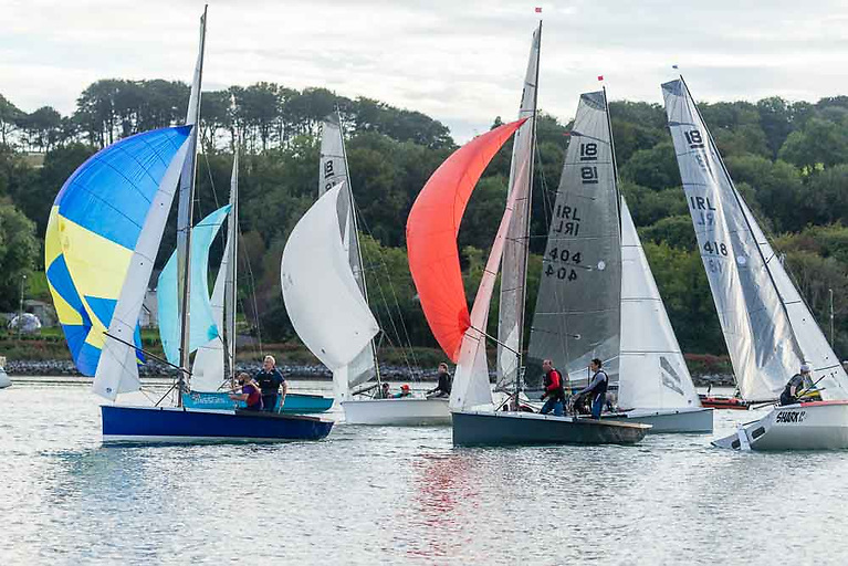 Last's night's National 18 River Race was held in very light winds prompting the shortening of the race from three to just one round