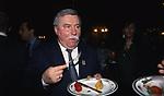 LECH WALESA<br /> COCKTAIL PARTY IN ONORE DI GORBACIOV - HOTEL BAGLIONI ROMA 11-2000