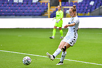 Hanne Hellinx (3) of Sporting Charleroi pictured during a female soccer game between RSC Anderlecht Dames and Sporting Charleroi  on the second matchday of the 2021 - 2022 season of Belgian Womens Super League , saturday 28 th of August 2021  in Brussels , Belgium . PHOTO SPORTPIX   DAVID CATRY