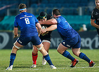 8th January 2021; RDS Arena, Dublin, Leinster, Ireland; Guinness Pro 14 Rugby, Leinster versus Ulster; Eric O'Sullivan of Ulster is tackled by Ed Byrne of Leinster