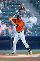 Glynn Davis (10) of the Bowie Baysox at bat against the Richmond Flying Squirrels at The Diamond on May 23, 2015 in Richmond, Virginia.  The Baysox defeated the Flying Squirrels 3-2.  (Brian Westerholt/Four Seam Images)