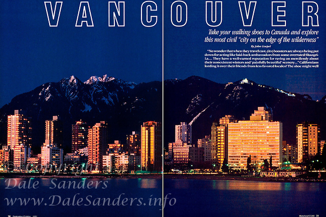 """MOTORLAND Magazine """"Vancouver """" Article - 2 Page Spread."""