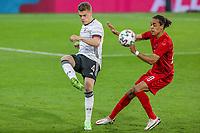 2nd June 2021, Tivoli Stadion, Innsbruck, Austria; International football friendly, Germany versus Denmark;  Matthias Ginter 4 Germany and Yussuf Poulsen 20 Denmark