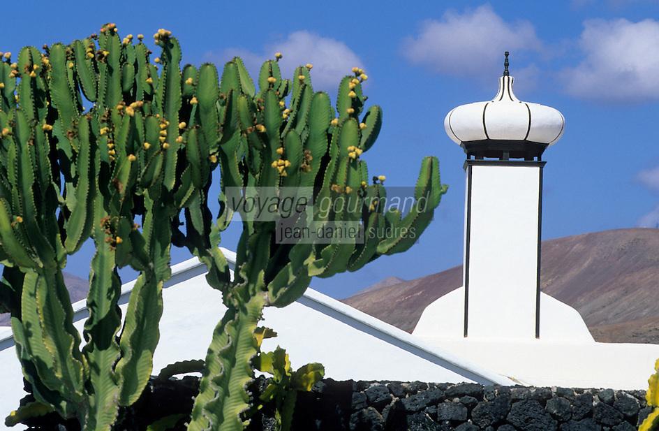 Europe/Espagne/Canaries/Lanzarote/Env de Teguise/Taro de Tahiche : La fondation César Mantique dans l'ancienne demeure de l'artiste
