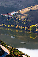 douro river and steep vineyards vineyards baron offley forrester's new house douro portugal
