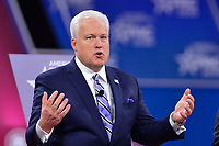 National Harbor, MD - February 27, 2020: ACU Chairman Matt Schlapp speak during CPAC 2020 hosted by the American Conservative Union at the Gaylord National Resort at National Harbor, MD February 27, 2020.  (Photo by Don Baxter/Media Images International)