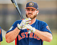 1 March 2017: Houston Astros first baseman Tyler White awaits his turn in the batting cage prior to Spring Training action against the Miami Marlins at the Ballpark of the Palm Beaches in West Palm Beach, Florida. The Marlins defeated the Astros 9-5 in Grapefruit League play. Mandatory Credit: Ed Wolfstein Photo *** RAW (NEF) Image File Available ***