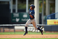 Luis Curbelo (18) of Puerto Rico Baseball Academy in Carolian, Puerto Rico playing for the Tampa Bay Rays scout team during the East Coast Pro Showcase on July 28, 2015 at George M. Steinbrenner Field in Tampa, Florida.  (Mike Janes/Four Seam Images)