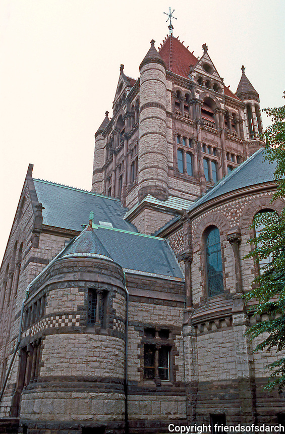 Henry Hobson Richardson: Trinity Church, Boston. Apse & Central Tower.