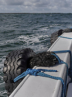 Börte Boot vor Insel Helgoland, Schleswig-Holstein, Deutschland, Europa<br /> Börte boat, Helgoland island, district Pinneberg, Schleswig-Holstein, Germany, Europe