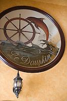 Afrique/Afrique du Nord/Maroc /Casablanca: détail du restaurant La Taverne du Dauphin bd Houphouët-Boigny