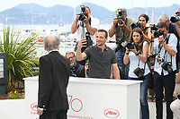 JEAN-LOUIS TRINTIGNANT AND MATHIEU KASSOVITZ - PHOTOCALL OF THE FILM 'HAPPY END' AT THE 70TH FESTIVAL OF CANNES 2017