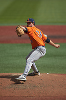 UTSA Roadrunners relief pitcher Luke Malone (34) in action against the Charlotte 49ers at Hayes Stadium on April 18, 2021 in Charlotte, North Carolina. (Brian Westerholt/Four Seam Images)