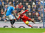 Wes Foderingham palms the ball away to safety as Kilmarnock attack