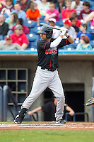 Great Lakes Loons first baseman Jesus Valdez #16 bats during a game against the Quad Cities River Bandits at Modern Woodmen Park on April 29, 2013 in Davenport, Iowa. (Brace Hemmelgarn/Four Seam Images)