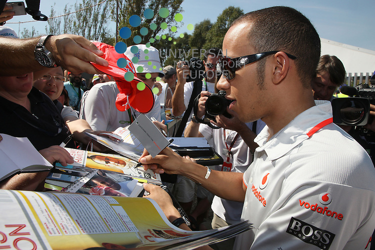 F1 GP of Australia, Melbourne 26. - 28. March 2010.Lewis Hamilton (GBR), McLaren F1 Team ..Picture: Hasan Bratic/Universal News And Sport (Europe) 26 March 2010.