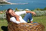 9 settembre 2011, Ameglia (La Spezia), Annamaria Bernardini de Pace, avvocato, fotografata nella sua casa di vacanza