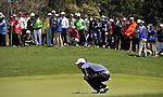 JEJU, SOUTH KOREA - APRIL 24:  Anthony Kim of USA lines up a putt on the 8th green during the Round Two of the Ballantine's Championship at Pinx Golf Club on April 24, 2010 in Jeju island, South Korea. Photo by Victor Fraile / The Power of Sport Images