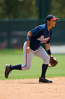 Shortstop Fernando De Los Santos #14 of the GCL Braves on defense versus the GCL Phillies at Disney's Wide World of Sports Complex, July 13, 2009, in Orlando, Florida.  (Photo by Brian Westerholt / Four Seam Images)