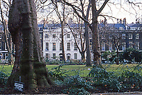 "London: Bedford Square, Bloomsbury.  Summerson--""No designer's name can confidently be given."""
