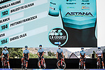 Astana Womens Team at the presentation before the start of La Course By Le Tour de France 2020, running 96km from Nice to Nice, France. 29th August 2020.<br /> Picture: ASO/Thomas Maheux | Cyclefile<br /> All photos usage must carry mandatory copyright credit (© Cyclefile | ASO/Thomas Maheux)