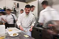 Europe/France/Bretagne/29/Finistère/Brest: Yvon Morvan restaurant: L'Armen  en cuisine [Non destiné à un usage publicitaire - Not intended for an advertising use]