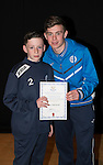 St Johnstone FC Academy Awards Night...06.04.15  Perth Concert Hall<br /> Craig Thomson presents a certificate to Rory Lamond<br /> Picture by Graeme Hart.<br /> Copyright Perthshire Picture Agency<br /> Tel: 01738 623350  Mobile: 07990 594431