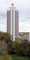 Stadtansichten 2009 - Wintergartenhochhaus am Georgiring - Messehochhaus Doppel-M LWB Plattenbau  . Foto: Norman Rembarz..Norman Rembarz , ( ASV-Autorennummer 41043728 ), Holbeinstr. 14, 04229 Leipzig, Tel.: 01794887569, Hypovereinsbank: BLZ: 86020086, KN: 357889472, St.Nr.: 231/261/06432 - Jegliche kommerzielle Nutzung ist honorar- und mehrwertsteuerpflichtig! Persönlichkeitsrechte sind zu wahren. Es wird keine Haftung übernommen bei Verletzung von Rechten Dritter. Autoren-Nennung gem. §13 UrhGes. wird verlangt. Weitergabe an Dritte nur nach  vorheriger Absprache..