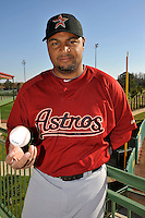 Feb 25, 2010; Kissimmee, FL, USA; The Houston Astros outfielder Carlos Lee (45) during photoday at Osceola County Stadium. Mandatory Credit: Tomasso De Rosa/ Four Seam Images