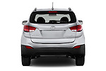 Straight rear view of a 2015 Hyundai Tucson SE Awd 5 Door Suv 2WD Rear View  stock images