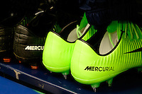 Harrison, NJ - Wednesday Feb. 22, 2017: Shoes prior to a Scotiabank CONCACAF Champions League quarterfinal match between the New York Red Bulls and the Vancouver Whitecaps FC at Red Bull Arena.