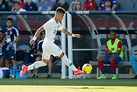 CARSON, CA - FEBRUARY 1: Ulysses Llanez Jr #19 of the United States moves along the sideline during a game between Costa Rica and USMNT at Dignity Health Sports Park on February 1, 2020 in Carson, California.