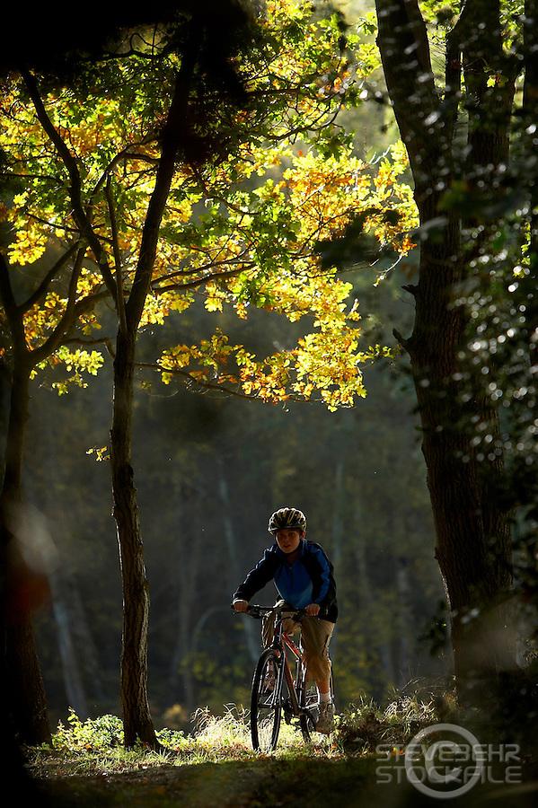 Josh   riding Isla Bike ..Virginia Water , Surrey  October 2009..