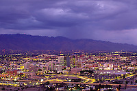 Nighttime view of downtown Tucson, AZ. Tucson Arizona USA.