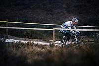 race leader Mathieu van der Poel (NED/Corendon-Circus) demonstrating his dominance once again<br /> <br /> Superprestige Zonhoven (BEL) 2018
