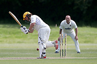 O Sarkar of Billericay is bowled out by M Irfan during Billericay CC (batting) vs Hornchurch CC, Hamro Foundation Essex League Cricket at the Toby Howe Cricket Ground on 12th June 2021