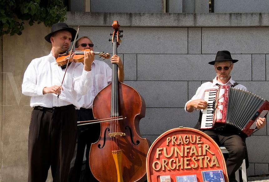 Funfair Orchester Polka Band at Archbishop Palace, Prague, Czech Republic