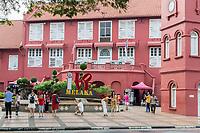 Stadthuys, Former Dutch Governor's Residence and Town Hall, Built 1650.  Melaka, Malaysia.