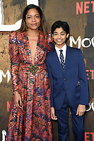"""Naomie Harris and Rohand Chand<br /> arriving for the""""Mowgli: Legend of the Jungle"""" premiere at the Curzon Mayfair, London<br /> <br /> ©Ash Knotek  D3464  04/12/2018"""