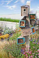 Attracting Wildlife, insects & Birds to Backyard Garden, bird house, feeders, habitat for wildlife