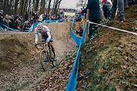 VAN DER POEL Mathieu (NED/Corendon-Circus) coming down the dirt jump section<br /> <br /> GP Sven Nys (BEL) 2019<br /> DVV Trofee<br /> ©kramon