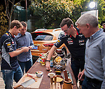 Formula One Triple World Champion Sebastian Vettel samples authentic local Shanghai cuisine and takes a lesson in Chinese cooking from top Shanghai chef Tzu-i Chuang Mullinax during his day with Infiniti ahead of the Chinese Grand Prix at the Wuzhong vegetables market on 10 April 2013 in Shanghai, China. Photo by Victor Fraile / The Power of Sport Images